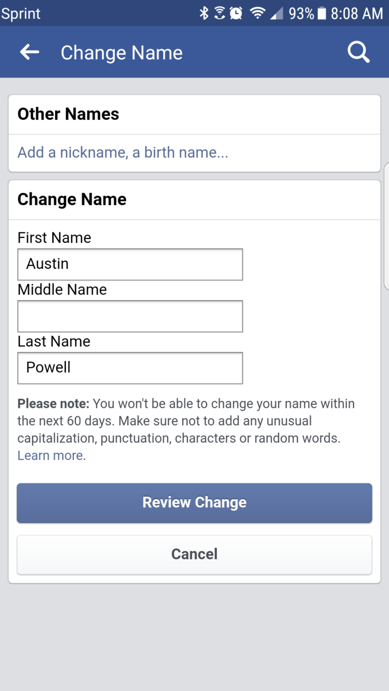 How Do You Change Name On Facebook